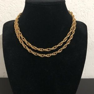 🔮 5/$25 Vintage Gold Tone Rope Chain Necklace